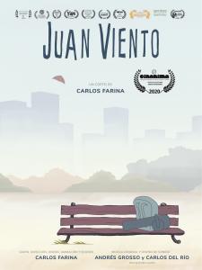 Juan viento, poster, carlos farina, animation films, short films, shortsfit. shortsfit distribution, distribucion de cortos